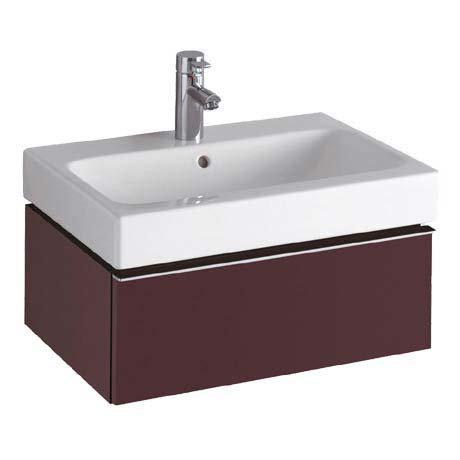 Twyford 3D 595mm Single Drawer Vanity Unit with Basin - Plum