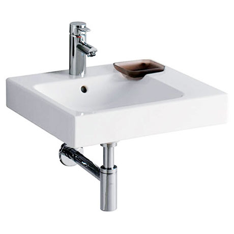 Twyford 3D 500mm 1TH Washbasin with Right Hand Shelf