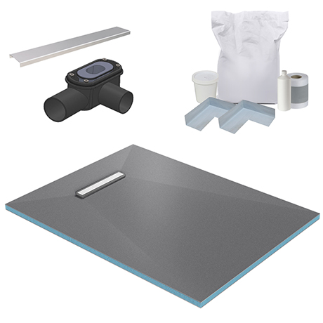 300 Linear 1200 x 900 Wet Room Walk In Rectangular Tray Former Kit (End Waste)