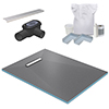 300 Linear 1200 x 900 Wet Room Walk In Rectangular Tray Former Kit (End Waste) profile small image view 1