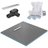 300 Linear 1200 x 1200 Wet Room Walk In Square Tray Former Kit (End Waste) profile small image view 1