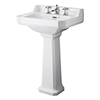 Bayswater Fitzroy Comfort Height Traditional 3TH Basin & Full Pedestal profile small image view 1