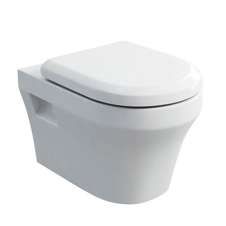 Britton Bathrooms - Fine S40 Wall Hung WC with Soft Close Angled Seat
