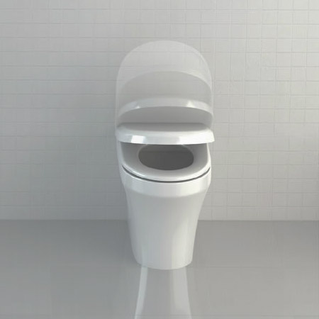 Britton Bathrooms - Fine S40 Back to wall WC with Soft Close Angled Seat Feature Large Image