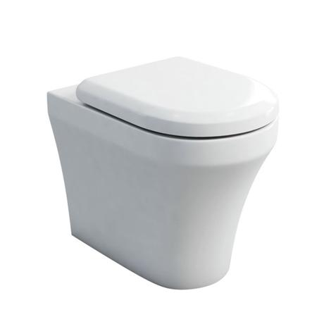 Britton Bathrooms - Fine S40 Back to wall WC with Soft Close Angled Seat