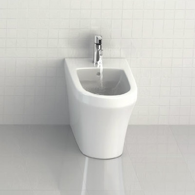 Britton Bathrooms - Fine S40 Back to Wall Bidet - 40.1972 profile large image view 2