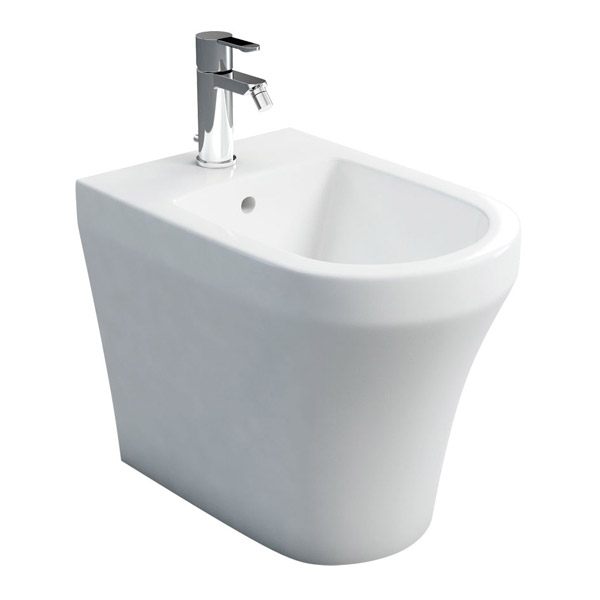 Britton Bathrooms - Fine S40 Back to Wall Bidet - 40.1972 Large Image