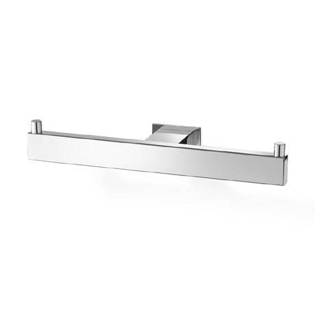 Zack Linea Double Toilet Roll Holder - Polished Finish - 40022