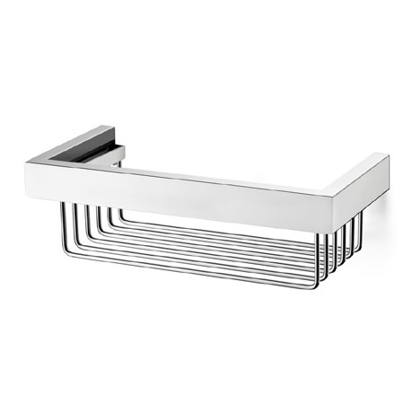 Zack Linea Shower Basket - Polished Finish - 40023