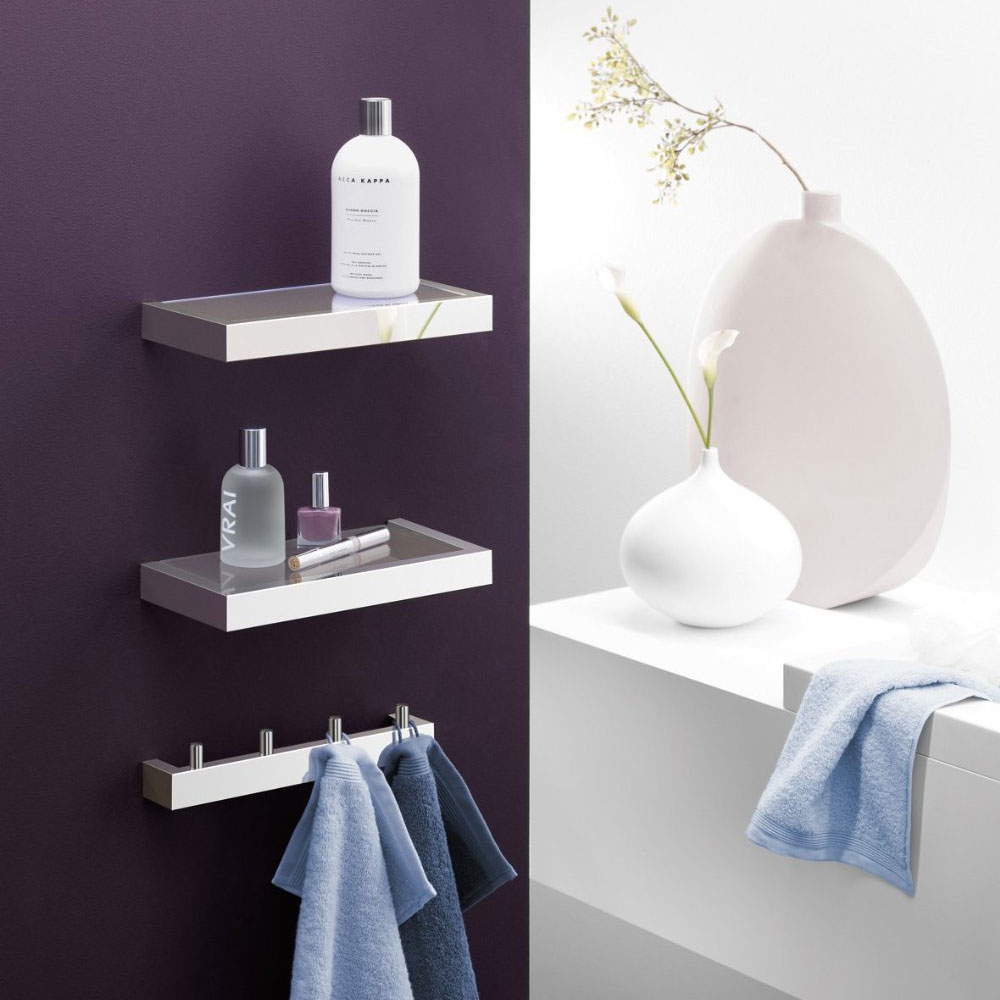 Zack Linea 26.5cm Bathroom Shelf - Polished Finish - 40028