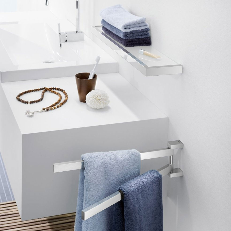 Zack Linea 60cm Bathroom Shelf - Polished Finish - 40030B Feature Large Image