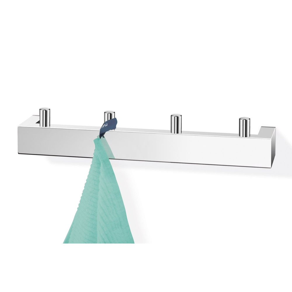 Zack Linea Towel Hook Rail - Polished Finish - 40035 profile large image view 2
