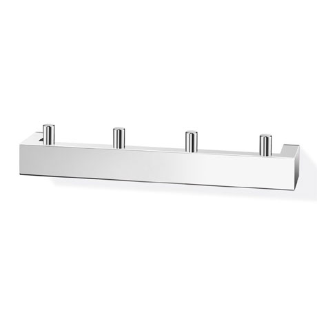 Zack Linea Towel Hook Rail - Polished Finish - 40035
