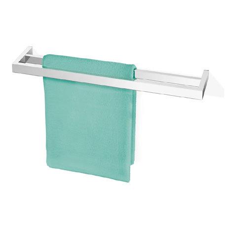 Zack Linea Double Towel Rail - Polished Finish - 40039