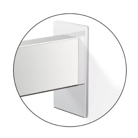 Zack Linea Wall Brackets with Adhesive Attachment - 40041 Profile Large Image