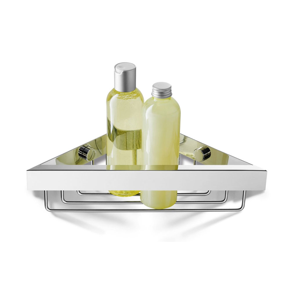 Zack Linea Corner Shower Basket - Polished Finish - 40042 profile large image view 2