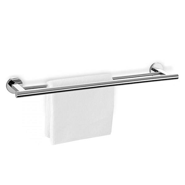 Zack Scala Stainless Steel Double Towel Rail + Mount Adhesive