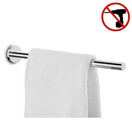 Zack Scala Stainless Steel Towel Holder + Mount Adhesive