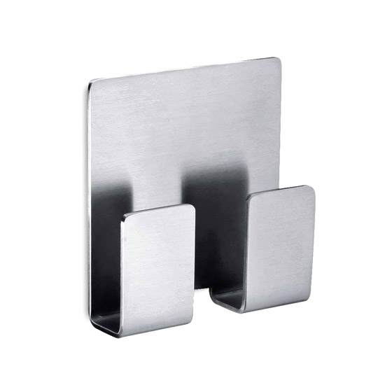 Zack Appeso Double Towel Hook - Stainless Steel - 40135 Large Image