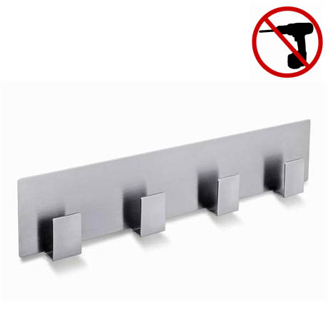 Zack Appeso Towel Hook Rail - Stainless Steel - 40143