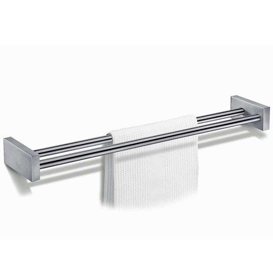 Zack Fresco Large Double Towel Rail - Stainless Steel - 40144