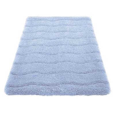 Kleine Wolke - Medina Organic Cotton Bath Mat - Light Blue - Various Size Options Large Image