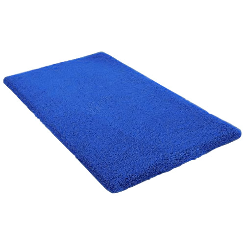 Kleine Wolke - Kansas Cotton Bath Mat - Blue - Various Size Options Large Image