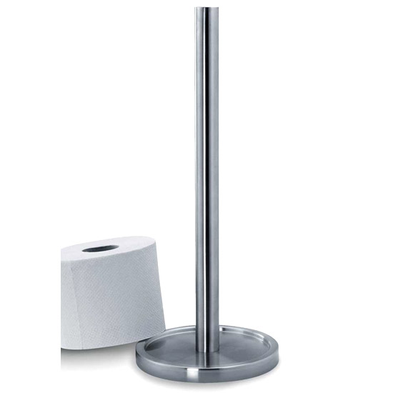 Zack Mimo Spare Toilet Roll Holder - Stainless Steel - 40180 Large Image
