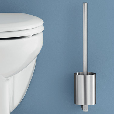 Zack Fresco Wall Mounted Toilet Brush - Stainless Steel - 40191 profile large image view 2