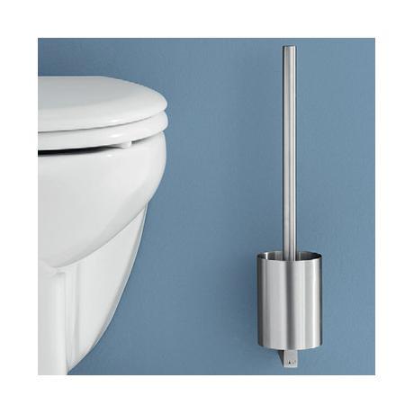 Zack fresco wall mounted toilet brush stainless steel 40191 at victorian plumbing uk - Zack toilet brush ...