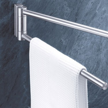 Zack Fresco Swivelling Towel Holder - Stainless Steel - 40199 profile large image view 2