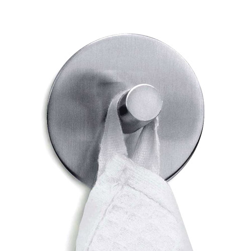 Zack Duplo Round Towel Hook - Stainless Steel - 40206 Large Image