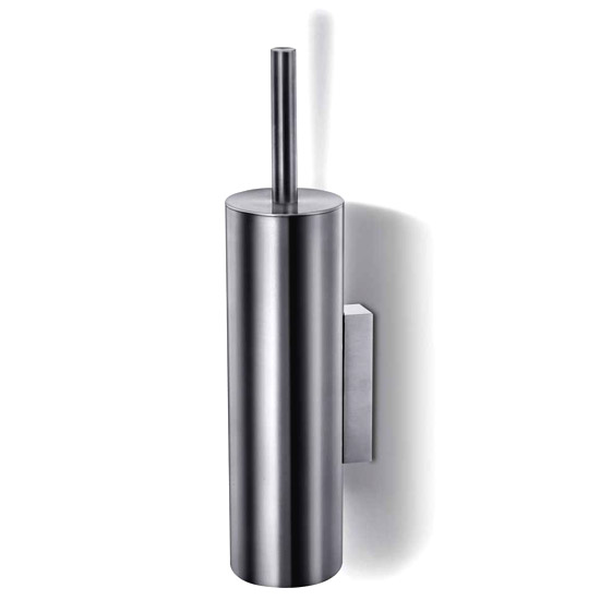 Zack Tubo Wall Mounted Toilet Brush - Stainless Steel - 40244 profile large image view 1