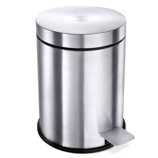 Zack Vasca Small 3 Litre Pedal Bin - Stainless Steel - 40300 profile large image view 1