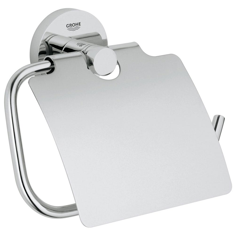 Grohe Essentials Toilet Roll Holder with Cover - 40367001 Large Image