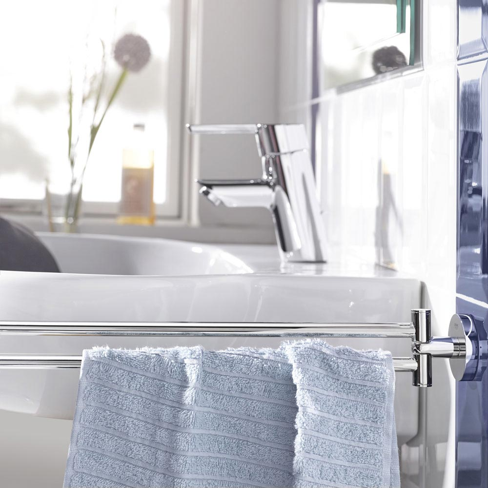 Grohe Essentials Double Towel Bar - 40371001  Profile Large Image