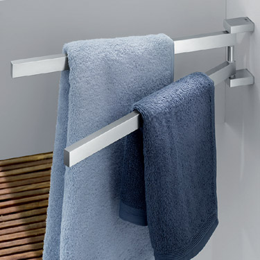Zack Linea Swivelling Towel Holder - Stainless Steel - 40380 profile large image view 2