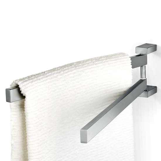 Zack Linea Swivelling Towel Holder - Stainless Steel - 40380 Large Image