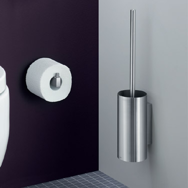 Zack Linea Wall Mounted Toilet Brush - Stainless Steel - 40381 profile large image view 2