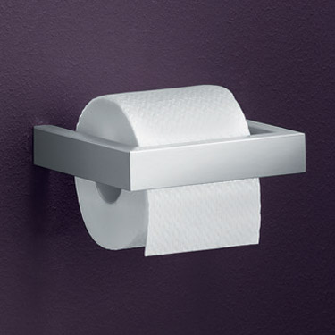 Zack Linea Wall Mounted Toilet Roll Holder - Stainless Steel - 40386 Profile Large Image
