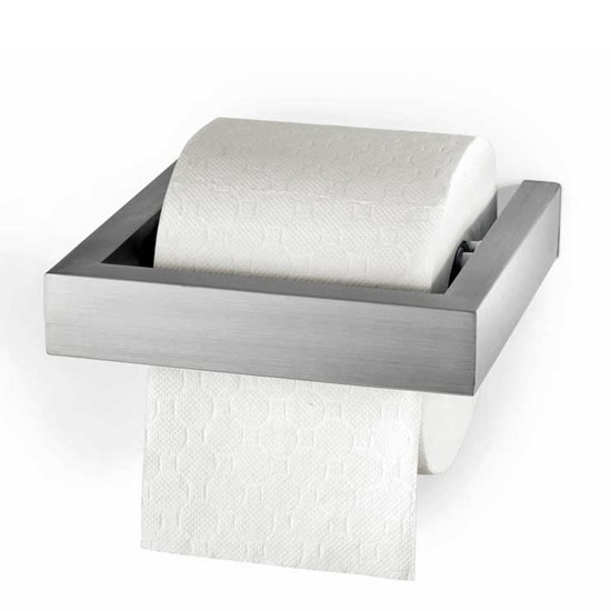 Zack Linea Wall Mounted Toilet Roll Holder - Stainless Steel - 40386 Large Image