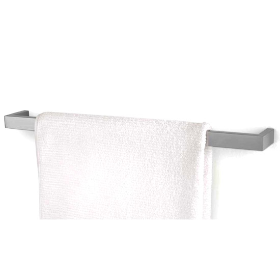 Zack Linea 61.5cm Towel Rail - Stainless Steel - 40388 Large Image