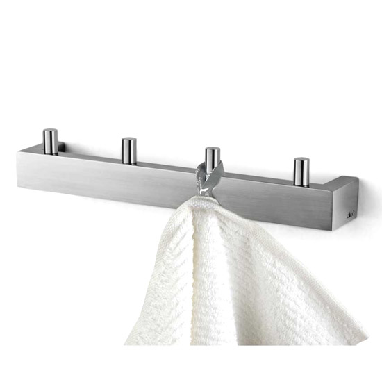 Zack Linea Towel Hook Rail - Stainless Steel - 40389 Large Image