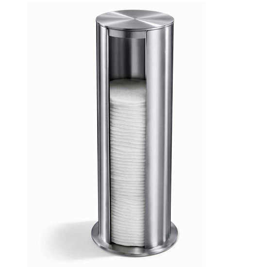 Zack Yara Freestanding Cotton Pad Dispenser - Stainless Steel - 40408