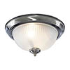Searchlight American Diner Chrome Flush Fitting with Acid Ribbed Glass - 4042 profile small image view 1