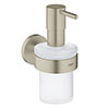 Grohe Essentials Soap Dispenser with Holder - Brushed Nickel - 40448EN1 profile small image view 1