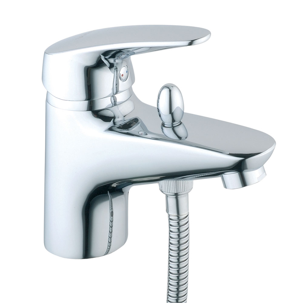 Vitra - Armix V3 Monobloc Bath Shower Mixer with Kit - Chrome - 40450 Large Image