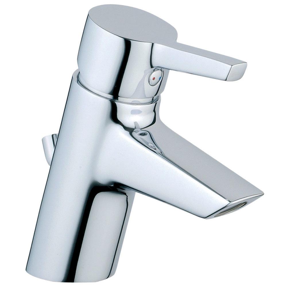 Vitra - Slope Monobloc Basin Mixer with Pop-up Waste - Chrome - 40460 Large Image
