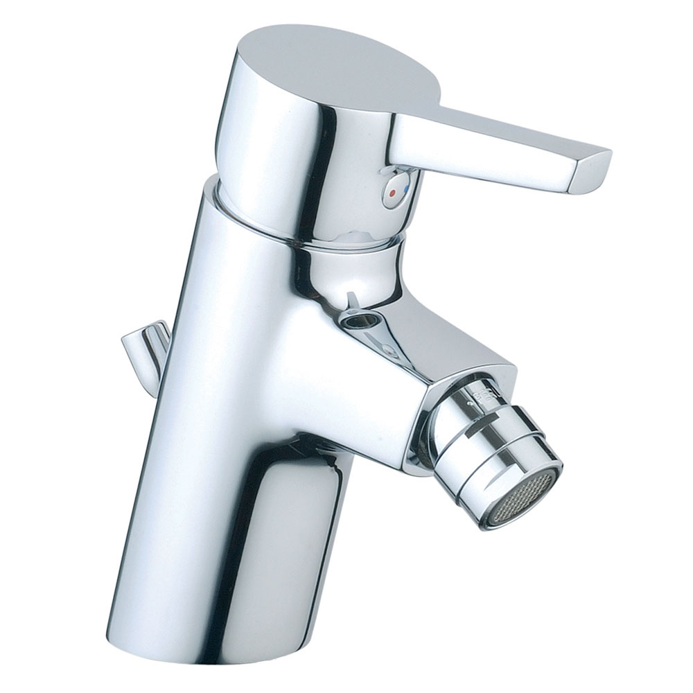 Vitra - Slope Monobloc Bidet Mixer with Pop-up Waste - Chrome - 40462 profile large image view 1