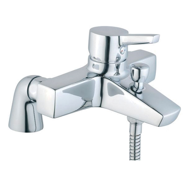 Vitra - Slope Bath Shower Mixer with Kit - Chrome - 40470 profile large image view 1
